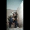ロシア扉なしトイレ盗撮 ブロンドぽっちゃりちゃんの放尿シーン