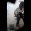 オシャレベルトのジーンズ女子の豪快放尿シーンを前から隠し撮り