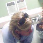 洋式トイレ盗撮 フロント アメリカン熟女達のおトイレタイム