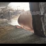 溝タイプトイレで脱糞する女性と途中から登場する熟女の放尿