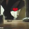 黒パンプス女性の大量放尿&オリモノ