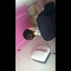 洋式トイレ盗撮 韓国CAの用足しタイム隠し撮り