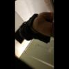 洋式トイレ盗撮 ローアングル 黒ジャケお姉さんの放尿シーン