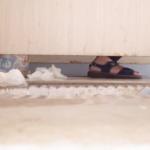 和式トイレ盗撮 横から 遠距離から超大量排便シーンを隠し撮り