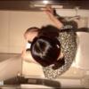 【洋式トイレ盗撮】真上から女の子の用足し姿を隠し撮り