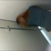 【洋式トイレ盗撮】中腰でうんちするも便座に少しだけOBしてしまうお姉さん