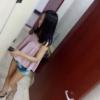 【和式トイレ盗撮】ピンクのノースリーブ女子の放尿シーン