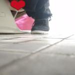 【和式トイレ盗撮】ブゥブピピピィとオナラしながら放尿する女性