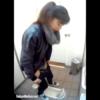 【公園和式トイレ盗撮】3カメ 放尿後アソコを拭かずにパンツを履くポニテ美人お姉さん