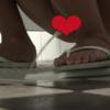 【中華和式トイレ盗撮】白サンダルの女の子の大量聖水シャワー※音声なし