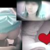 【和式トイレ盗撮】3カメ 涼しい顔の美女の放尿シーン2回