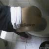 【欧米洋式トイレ盗撮】ポニテお姉さんの中腰おしっこシーン